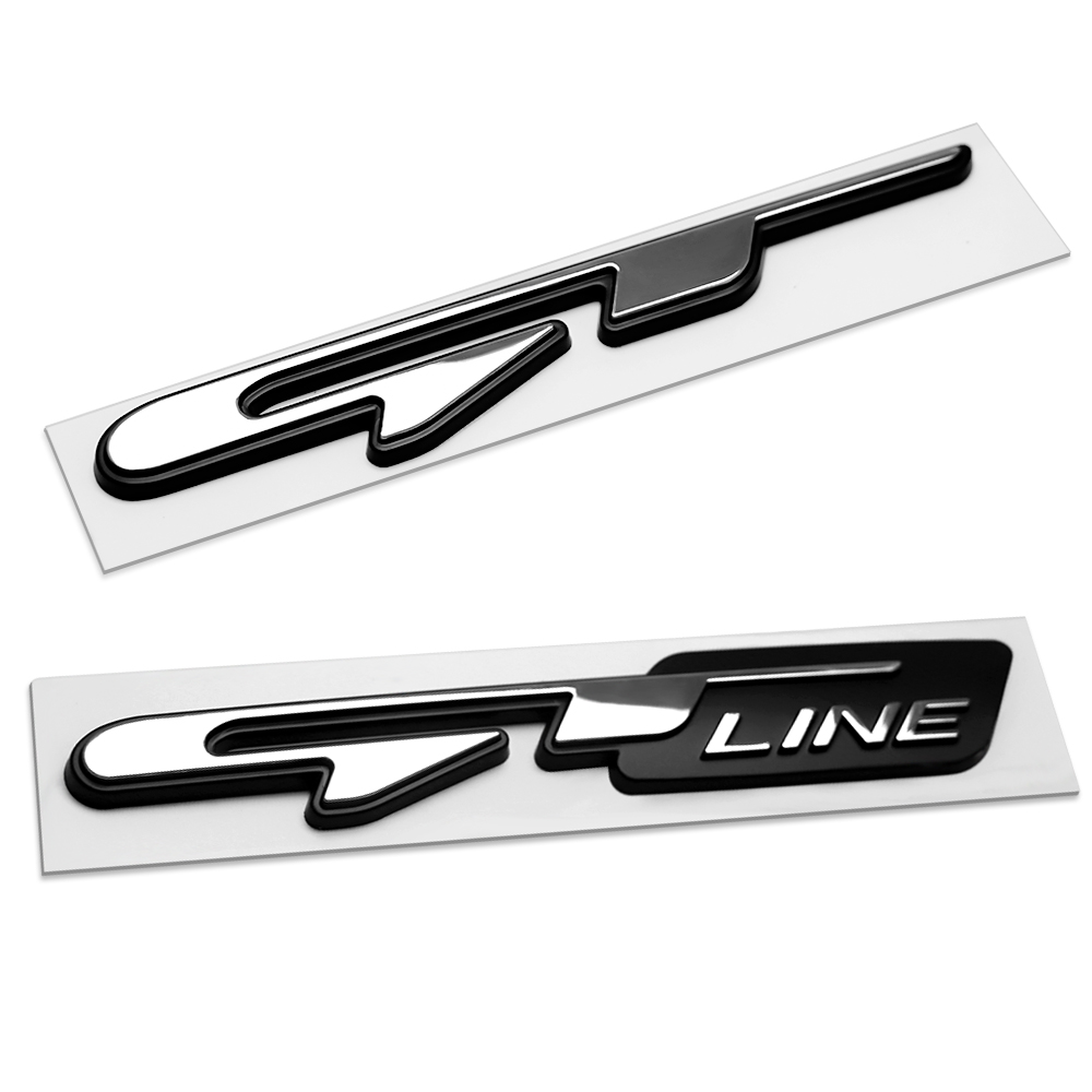 ATUO Emblem Sticker GT Line Letters Decals car Exterior Stickers For Kia forte ceed stinger