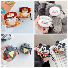 Wireless Bluetooth Earpods Case For Airpods Pro Case Silicone Cartoon Food Heads