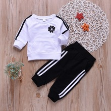 Kids Clothes Set Casual Sports Teen Girls Tracksuits Spring 2pcs Children Clothing Suits 8 10 12 year Cotton Girls Clothes стоимость