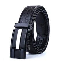 Men's Belt Leather Automatic Buckle Belt
