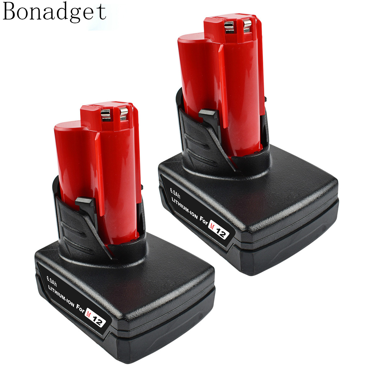 Bonadget Power Tools Battery For Milwaukee M12 12v  6000mah Power Tool Rechargeable Li-ion Battery Replacement Battery Backup