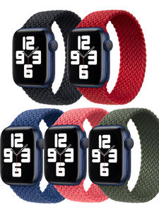 Bands Watch-Strap Braided Loop Woven Solo 40mm 44mm 42mm 38mm for Apple 6 Series5/4/3-/..