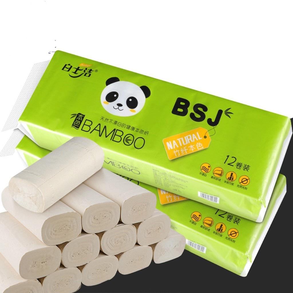 12 Rolls Hand Clean Toilet Tissue Solid Paper Napkin Serviettes 4 Ply C Fold Paper Tissues Prevent Flu Soft Strong Toilettenpapi