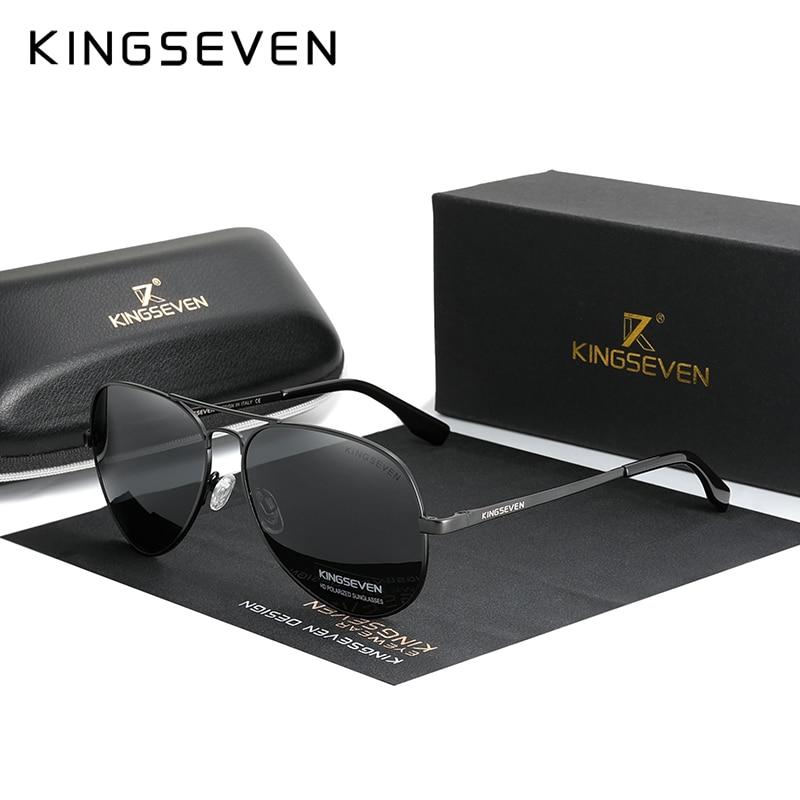 KINGSEVEN marque hommes aluminium lunettes de soleil 2020 nouveau polarisé UV400 miroir mâle lunettes de soleil femmes pour hommes Oculos de sol 7735