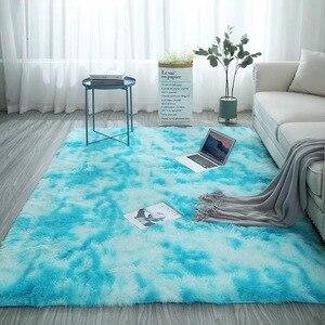 Серые Мягкие плюшевые ковры для гостиной, спальни, Нескользящие Коврики для спальни, водопоглощающие ковры