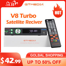 👍 Original GTmedia V8 Turbo Satellite TV Receiver 1080P DVB-S2X T2 Cable Combo T2-MI M3U Ccam Spain Terrestrial Receiver TV BOX