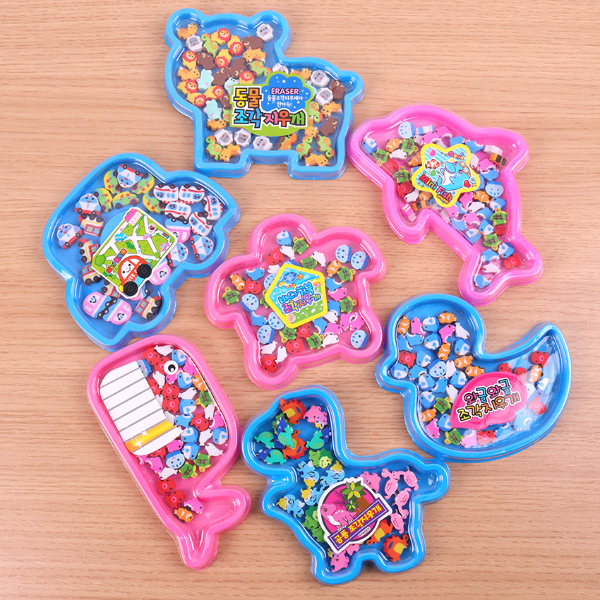 Lovely Colored Eraser Office Stationery Cute Animal Eraser For Students Kids Creative Item Gift 1 Sets
