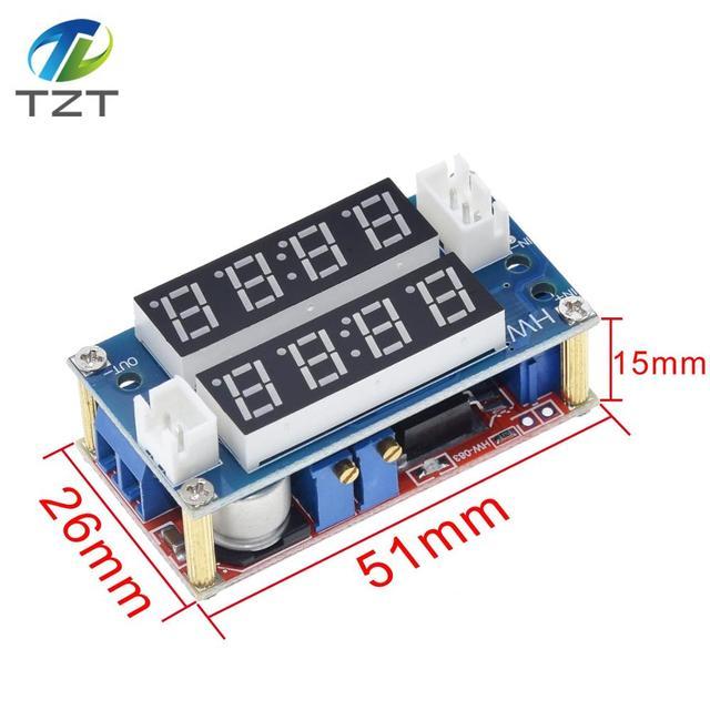 TZT XL4015 5A מתכוונן כוח CC/קורות חיים צעד למטה הטעינה מודול LED Driver מד מתח מד זרם קבוע זרם קבוע מתח