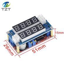 Tzt XL4015 5A可変電力cc/cv降圧充電モジュールledドライバ電圧計電流計定電流定電圧