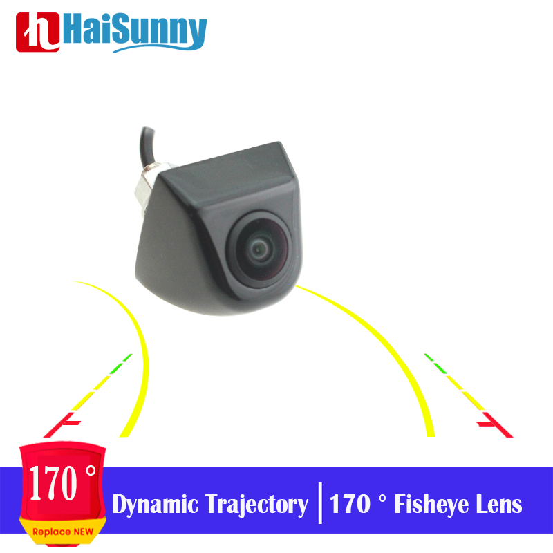 HD Real 170 Angle Fisheye Lens Cam Waterproof Metal Shell Car Rear Night View Dynamic Trajectory Reverse Reversing Backup Camera