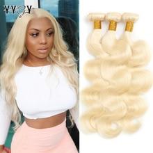 1/3/4 613 Blonde Hair Extensions Brazilian Hair Weave Bundles Body Wave Remy Human Hair Bundles 22 24 26 28 30 32 Inches