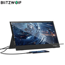 BlitzWolf BW-PCM6 HD LCD Monitor 17.3Inch Touch Panel usb Typ c HDMI-kompatibel für LaptopPphone für xbox / ps4 /switch Gaming Monitor 1080P HD Tragbare LCD Computer Monitore