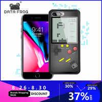 Daten Frosch Tetris Spiel Konsolen Für iPhone Fall Mini Handheld Spiel Für iPhone 6/6s Retro Spiel Konsole fall Für iPhone 7 8P X/XS