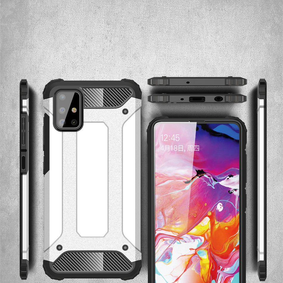 For Samsung A50 A30 A70 A10S A20E A40 A8S A6S A6 A8 Plus A7 2018 Luxury Armor Shockproof Metal Case Hybrid Soft Protect Cover image