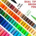 120 Double Brosse Art Marqueur Aquarelle Encre Marqueur pour la Calligraphie  Art  Coloration