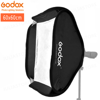 Godox Softbox 60x60cm Diffuser Reflector for Speedlite Flash Light Professional Photo Studio Camera Flash Fit Bowens Elinchrom