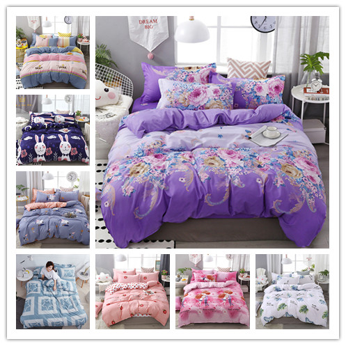 Printed Flowers Sea Bedding Set New Products Hot Sale Home Textile Single Double King Size For Chidern Teens Adults