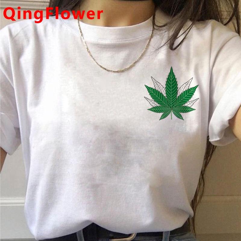 Bong Weed tshirt clothes women print harajuku streetwear clothes harajuku kawaii white t shirt 3