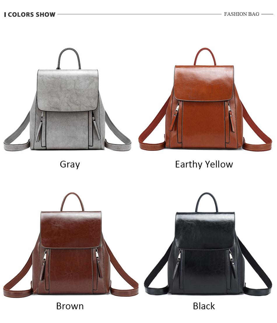 Hd6a7949583be4f5faf0eb046216986006 - women backpack school bags for teenager girls leather school backpack for women large Capacity mochila shoulder bag
