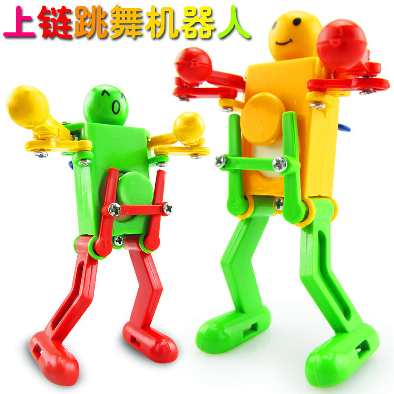 Stall Hot Selling 9272 Winding Dancing Robot Educational Wind-up Toy Kindergarten Small Gifts Children Small Toy