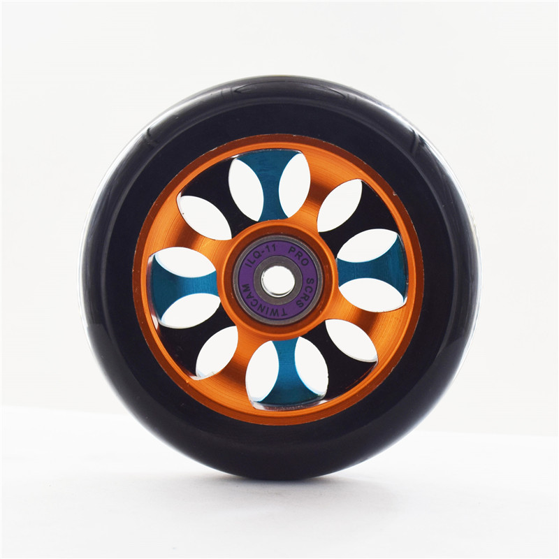 100mm Aluminium Alloy Steel Hub High Elasticity Scooter Wheel  And 88A Precision Speed Skating Skateboard Wheel 2 Pieces/lot