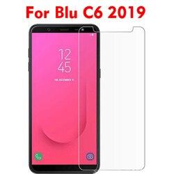 2 pçs vidro temperado para blu c6 2019 protetor de tela película protetora para blu c6 2019