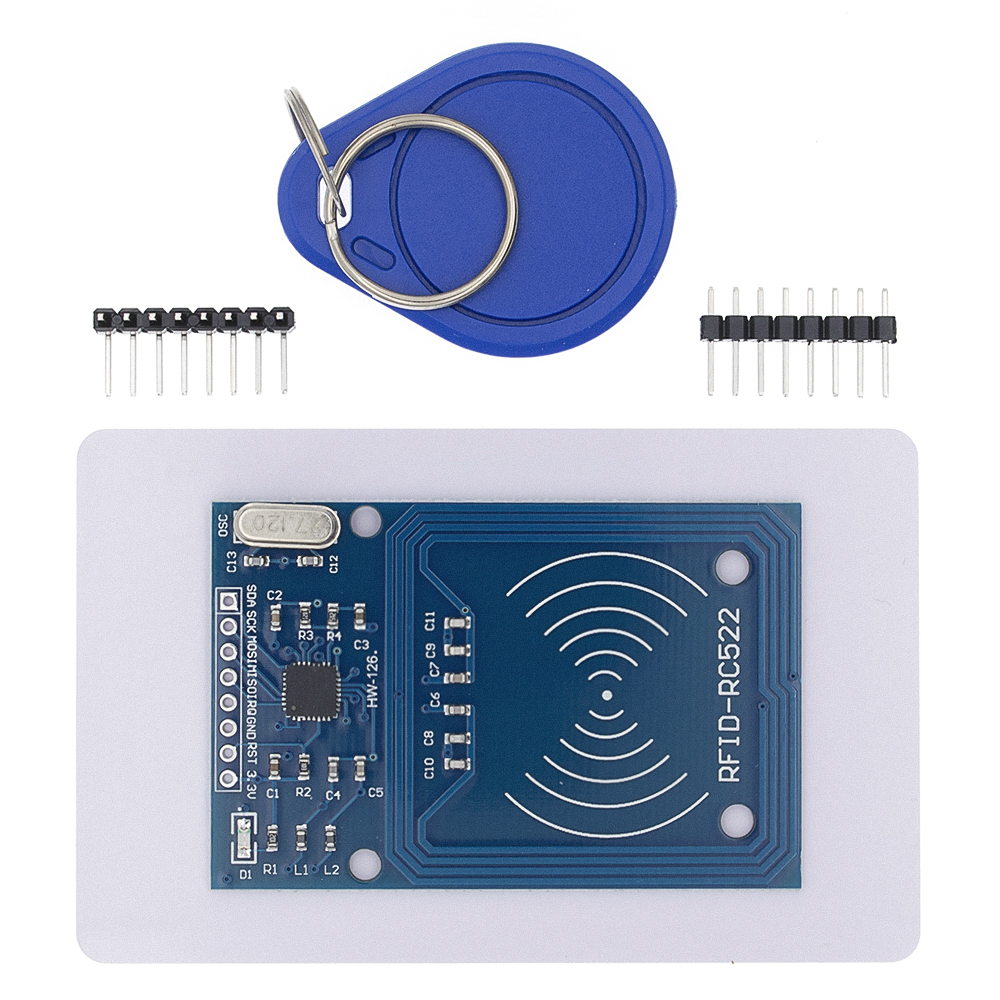 50pcs TENSTAR ROBOT RFID module RC522 Kits S50 13.56 Mhz 6cm With Tags SPI Write & Read-in Integrated Circuits from Electronic Components & Supplies