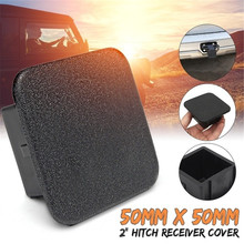 AUTO Trailer Hitch Cover 2 inch Tow Receiver Tube Plug Cap  Black Hitch Ball Insert Compatible  (2