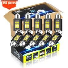 Dxz 150 pces Festoon-36MM c5w c10w lâmpadas led canbus 3030 6-smd nenhum erro interior do carro mapa dome luzes de leitura 12v/24v 3w lâmpada automática