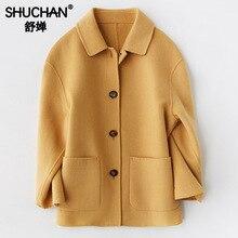 Shuchan Single Breasted Winter Coat Women Casaco Feminino Middle Aged Fashion New Womens Clothing Autumn 2019