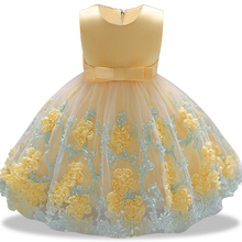 Dress Lace for Girls 1st year birthday party wedding