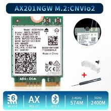 2.4 5gbpsのデュアルバンドのwi fi 6 AX201ワイヤレスアダプタbluetooth 5.0インテルAX201 AX201NGW ngff鍵e M.2 802.11ax CNVIO2無線lanカード