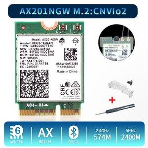 Image 1 - 2.4 5gbpsのデュアルバンドのwi fi 6 AX201ワイヤレスアダプタbluetooth 5.0インテルAX201 AX201NGW ngff鍵e M.2 802.11ax CNVIO2無線lanカード