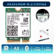 2.4Gbps Dual Band Wi Fi 6 AX201 אלחוטי מתאם Bluetooth 5.0 עבור אינטל AX201 AX201NGW NGFF מפתח E M.2 802.11ax CNVIO2 Wifi כרטיס