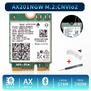 2,4 Гбит/с двухдиапазонный Wi-Fi 6 AX201 беспроводной адаптер Bluetooth 5,0 для Intel AX201 AX201NGW NGFF Key E M.2 802.11ax CNVIO2 Wifi карта