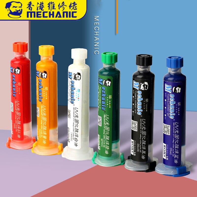 MECÂNICO 10ML UV Curável Multi cor Pintura Evitar A Corrosão Arcing PCB Pasta De Solda BGA Soldagem Fundentes Óleo|Fundentes de solda|   - AliExpress