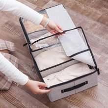 Многофункциональная прозрачная тканевая коробка для обуви ящик