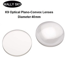 BK7 Spherical Convex Lens Diameter 40mm K9 Optical Plano-Convex Lenses Uncoated Experiment Tool Optical Experiment Focusing Lens