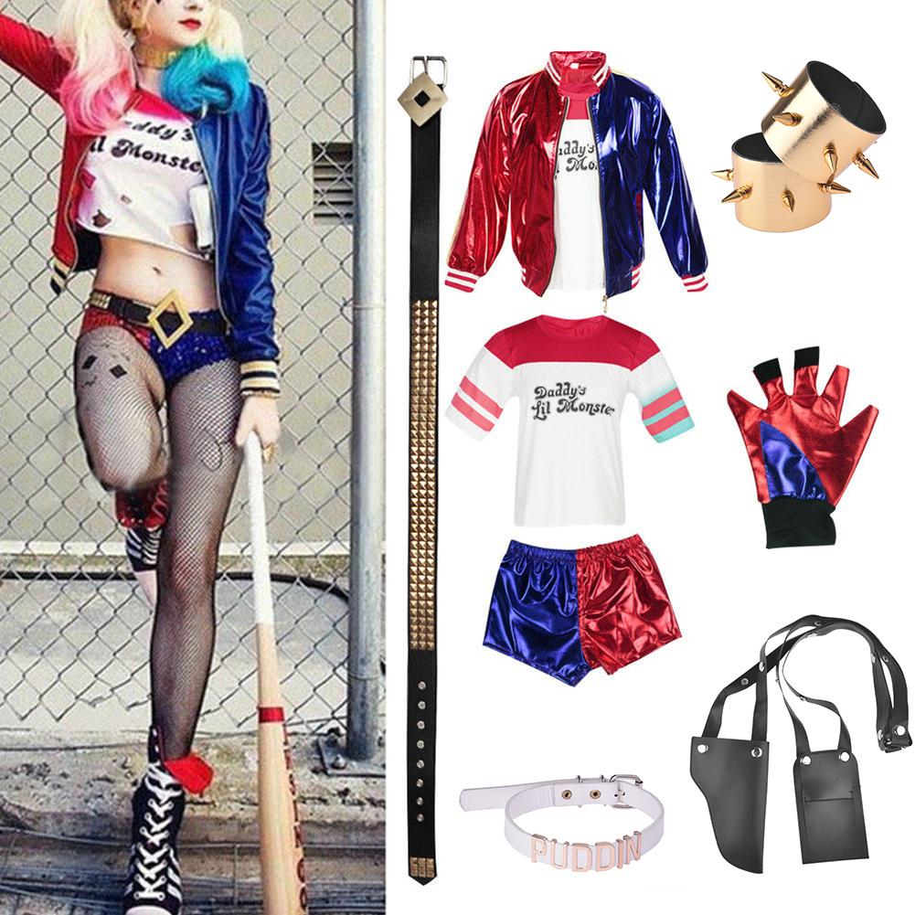 Cosplay Costume Girl (suicide Squad) Harley Quinn Sets Joker Monster Clown Dress Up Halloween Products New Role-playing