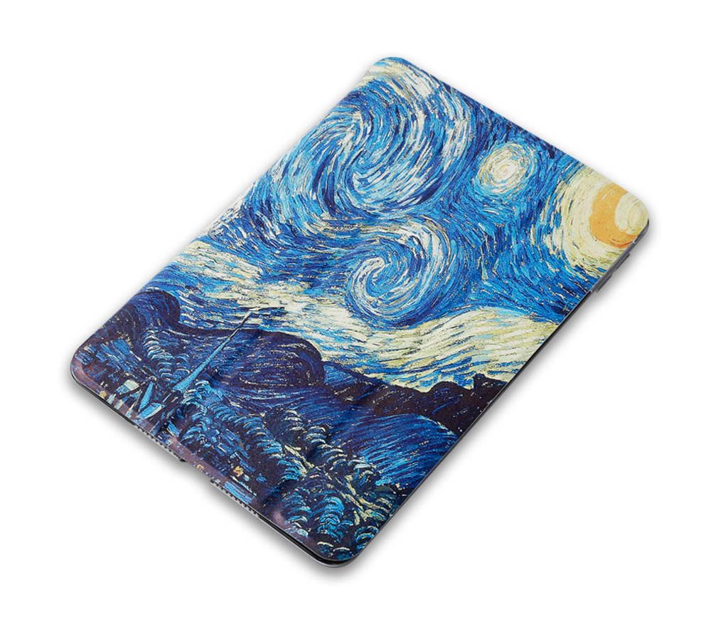 For iPad Air 4 Orange Tablet Case for Apple iPad Air 4 10 9 2020 A2072 A2324 Cartoon Paiting Smart Cover