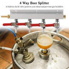 все цены на Muti-way Home Co2 Air Gas Manifold Distribution Splitter Beer 4 Way Integrated Check Valves Homebrew Making Brewing Tool онлайн