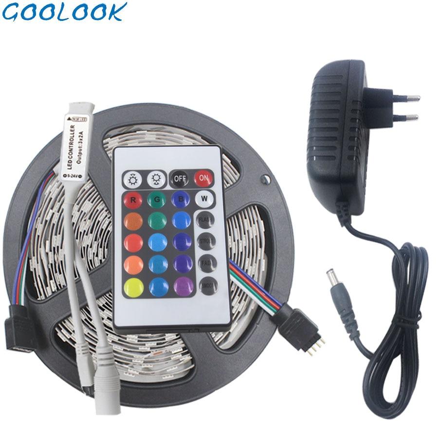 5M 10M RGB Led Strip Light 2835 DC12V 15M 20M Non-waterproof Led Tape  Flexible Lighting Ribbon Full Set