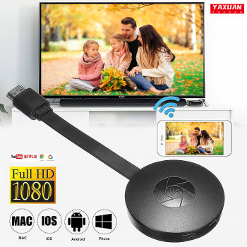 1080P Wireless WiFi Display Dongle TV Stick Video Adapter Airplay DLNA Screen Mirroring Share for iPhone iOS Android Phone to TV 1