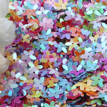 Paillettes Mix White Pink Flower Cup Sequin for Crafts Bags Sewing Scrapbooking Lentejuelas Home Decoration Accessories 10mm 10g