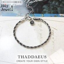 Bracelet à chaîne en fil de fer pour femmes et hommes, en argent Sterling 925, perles, breloques, bijoux pour le corps, cadeaux de fête