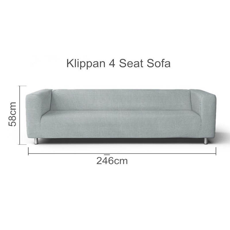 The Klippan 4 Seat Loveseat Sofa Cover Replacement For Klippan 4 Seater Sleeper Slipcover image