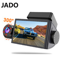 JADO D350S enregistreur de conduite avant et arrière 1080P vision nocturne HD trois enregistrements connexion wifi 360 ° panorama applique murale microphon enregistrement de 24 hours surveillance camera embarquee por(China)