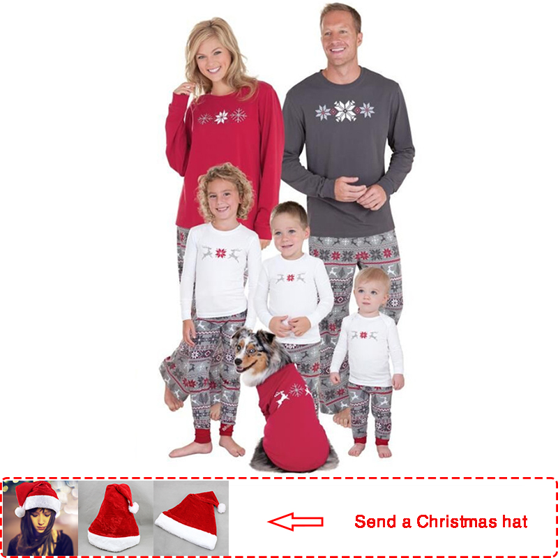 2019 Casual christmas family pajamas Sets Mother/Father/Kid matching
