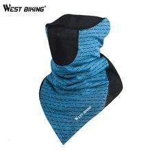 Зимняя теплая велосипедная маска для лица, ветрозащитная флисовая спортивная Лыжная маска для бега, Балаклава, шейный шарф, дышащие велосипедные маски для езды на велосипеде