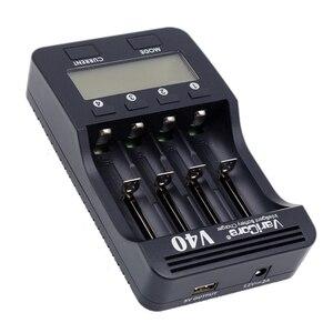 Image 5 - VariCore cargador de batería LCD V40, 3,7 V, 18650, 26650, 16340, 14500, 18350, batería de litio AA/AAA, Ni MH